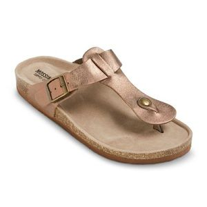 MOSSIMO IDA Rose Gold Footbed Sandals